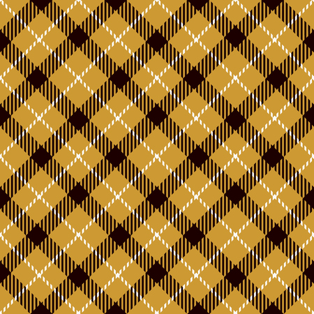 Tartan Seamless Pattern Background. Gold, Black  and  White  Plaid, Tartan Flannel Shirt Patterns. Trendy Tiles Vector Illustration for Wallpapers Illustration