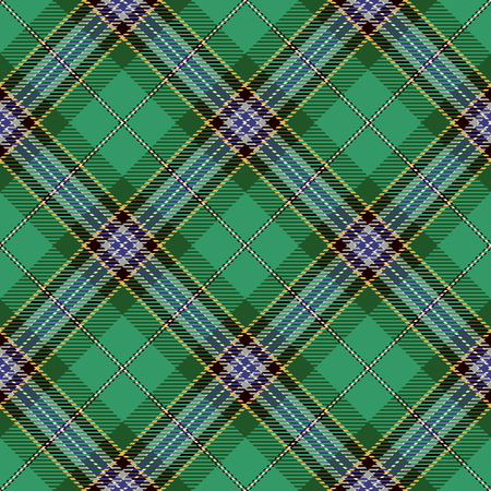 Tartan Seamless Pattern Background. Blue, Black, Green, Yellow  and  White Plaid, Tartan Flannel Shirt Patterns. Trendy Tiles Vector Illustration for Wallpapers