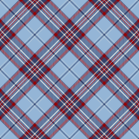 Tartan Seamless Pattern Background. Red, Blue  and  White Plaid, Tartan Flannel Shirt Patterns. Trendy Tiles Vector Illustration for Wallpapers.