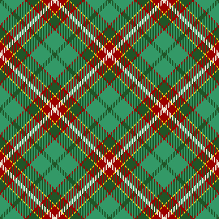 Tartan Seamless Pattern Background. Red, Green, Yellow  and  White Plaid, Tartan Flannel Shirt Patterns. Trendy Tiles Vector Illustration for Wallpapers. Illustration
