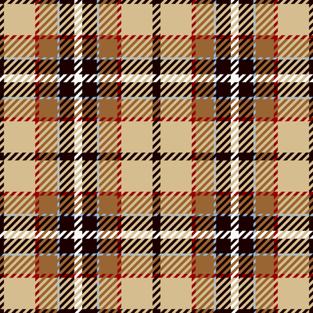 Tartan Seamless Pattern Background. Red, Black, Brown, Beige  and  White  Plaid, Tartan Flannel Shirt Patterns. Trendy Tiles Vector Illustration for Wallpapers.