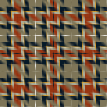 Tartan Seamless Pattern Background. Red, Black, Brown, Gold  and  White  Plaid, Tartan Flannel Shirt Patterns. Trendy Tiles Vector Illustration for Wallpapers. Illustration