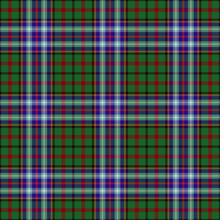 Tartan Seamless Pattern Background. Red, Black, Green, Blue, Gold  and  White  Plaid, Tartan Flannel Shirt Patterns. Trendy Tiles Vector Illustration for Wallpapers. Illustration