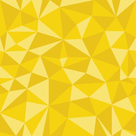 삼각형에서 노란색 기하학적 인 원활한 패턴입니다. 프레임 테두리 바탕 화면합니다. 우아한 반복되는 벡터 장식품