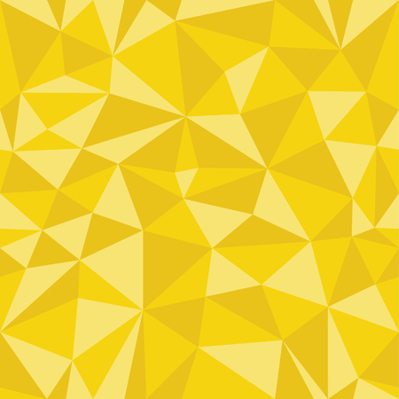 Yellow  Geometric Seamless Pattern From Triangles. Frame Border Wallpaper. Elegant Repeating Vector Ornament Illustration