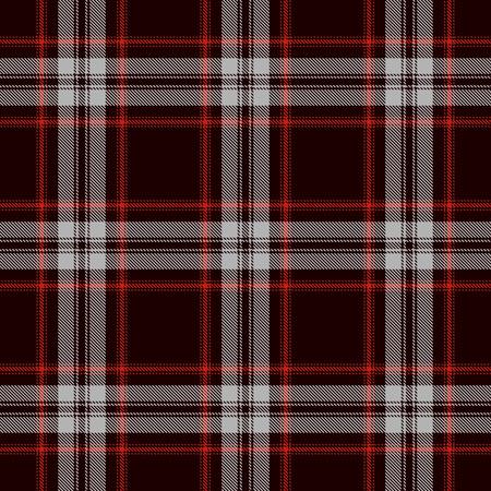 Tartan sans soudure de fond. Plaid rouge, noir et gris, motifs de chemise en flanelle tartan. Illustration vectorielle de carreaux à la mode pour les fonds d'écran. Banque d'images - 86965295
