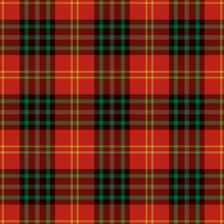 Tartan Seamless Pattern Background. Red, Black, Green  and  Gold Plaid, Tartan Flannel Shirt Patterns. Trendy Tiles Vector Illustration for Wallpapers.