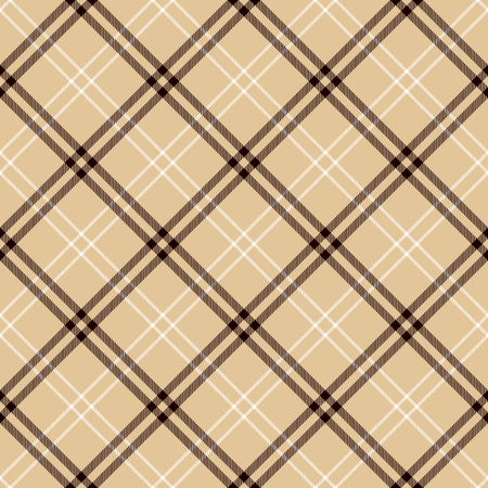Tartan Seamless Pattern Background. Camel Beige, Black  and  White  Plaid, Tartan Flannel Shirt Patterns. Trendy Tiles Vector Illustration for Wallpapers.