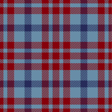 Tartan Seamless Pattern Background. Blue and  Red  Color  Plaid.  Flannel Shirt Patterns. Trendy Tiles Vector Illustration for Wallpapers.