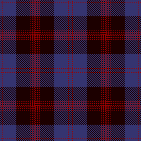 Seamless plaid Pattern Background Ilustração