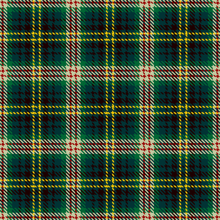 Tartan Seamless Pattern Background. Green, Red, Black, Yellow  and  Beige  Color  Plaid.  Flannel Shirt Patterns. Trendy Tiles Vector Illustration for Wallpapers