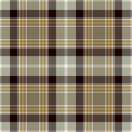 Tartan Seamless Pattern Background. Beige, Black, Gold  and  White  Color  Plaid.  Flannel Shirt Patterns. Trendy Tiles Vector Illustration for Wallpapers.