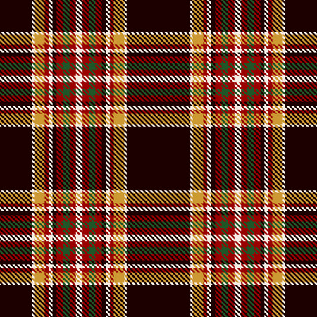 Tartan Seamless Pattern Background. Black, Red, Green, Gold  and  White  Color  Plaid.  Flannel Shirt Patterns. Trendy Tiles Vector Illustration for Wallpapers