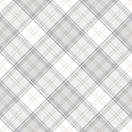 Tartan Seamless Pattern Background in Pastel Grey, Dusty Beige And White  Color  Plaid.  Flannel Shirt Patterns. Trendy Tiles Vector Illustration for Wallpapers. Ilustrace