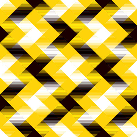 Tartan Seamless Pattern Background. Yellow, Black  and  White  Color  Plaid.  Flannel Shirt Patterns. Trendy Tiles Vector Illustration for Wallpapers.
