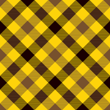Tartan Seamless Pattern Background. Brown, Black  and  Yellow  Color  Plaid.  Flannel Shirt Patterns. Trendy Tiles Vector Illustration for Wallpapers.