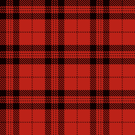 Tartan Plaid Scottish Seamless Pattern Background. Red  and  Black  Color  Wrap.  Flannel Shirt Patterns. Trendy Tiles Vector Illustration for Wallpapers.