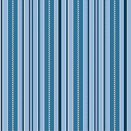 Stripe Seamless Vector Pattern. With Blue and White Vertical Parallel Stripes. Illustration Abstract Background Ilustração