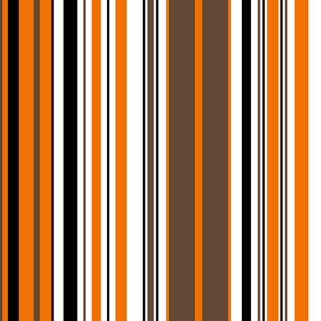 Halloween Stripe Seamless Vector Pattern. With Orange, Brown, Black and White Vertical Parallel Stripes. Illustration Abstract Background  イラスト・ベクター素材
