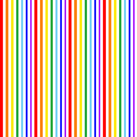 Stripe Seamless Vector Pattern. With Rainbow Color Vertical Parallel Stripes. Illustration Abstract Background