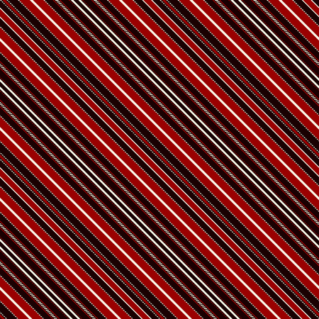 With Red, Black and White Diagonal Parallel Stripes. Stripe Seamless Vector Pattern. Illustration Abstract Background