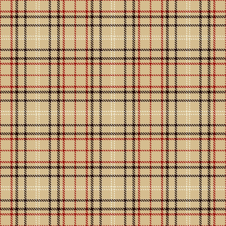 Tartan Plaid Scottish Seamless Pattern Background. Black, Red, White and  Camel Beige  Color  Wrap. Flannel Shirt Patterns. Trendy Tiles Vector Illustration for Wallpapers.