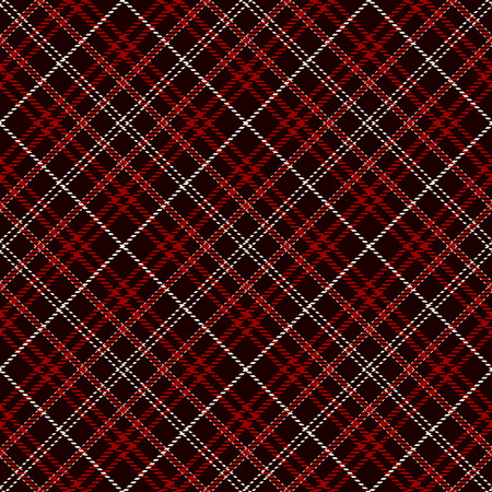 Tartan Plaid Scottish Seamless Pattern Background. Black, Red  and  White  Color  Wrap. Flannel Shirt Patterns. Trendy Tiles Vector Illustration for Wallpapers