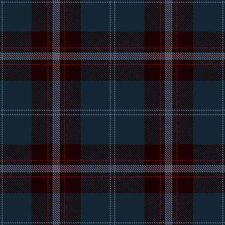 Tartan Plaid Scottish Seamless Pattern Background. Black, Red  and  Blue  Color  Wrap. Flannel Shirt Patterns. Trendy Tiles Vector Illustration for Wallpapers. Ilustração