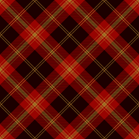 Tartan Plaid Scottish Seamless Pattern Background. Black, Red  and Gold Color  Wrap. Flannel Shirt Patterns. Trendy Tiles Vector Illustration for Wallpapers.