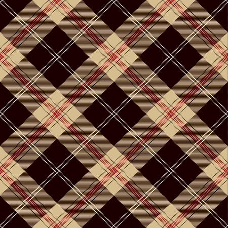 Tartan Plaid Scottish Seamless Pattern Background. Black, Red, Camel Beige  and  White Color  Wrap. Flannel Shirt Patterns. Trendy Tiles Vector Illustration for Wallpapers. Ilustração