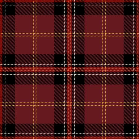 Tartan Plaid Scottish Seamless Pattern Background. Black, Red, Gold and  White  Color  Wrap. Flannel Shirt Patterns. Trendy Tiles Vector Illustration for Wallpapers. Ilustração