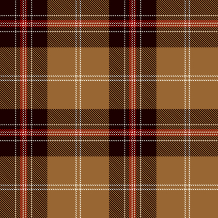 Tartan Plaid Scottish Seamless Pattern Background. Black, Red, Gold and  White  Color  Wrap. Flannel Shirt Patterns. Trendy Tiles Vector Illustration for Wallpapers.  イラスト・ベクター素材