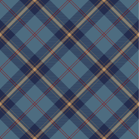 Tartan Plaid Scottish Seamless Pattern Background. Blue, Red, Gold and White Color  Wrap. Flannel Shirt Patterns. Trendy Tiles Vector Illustration for Wallpapers.  イラスト・ベクター素材