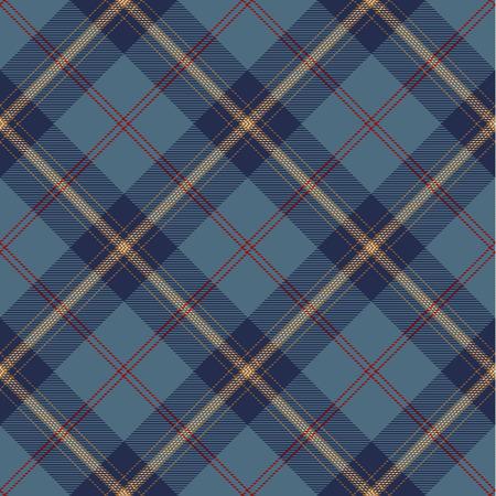 Tartan Plaid Scottish Seamless Pattern Background. Blue, Red, Gold and White Color  Wrap. Flannel Shirt Patterns. Trendy Tiles Vector Illustration for Wallpapers. Ilustração