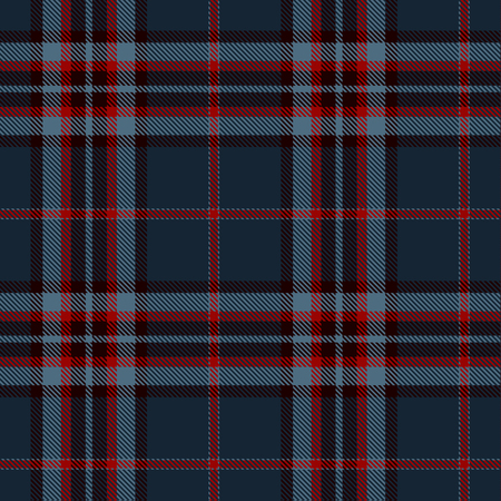 Tartan Plaid Scottish Seamless Pattern Background. Blue, Black and  Red  Color  Wrap. Flannel Shirt Patterns. Trendy Tiles Vector Illustration for Wallpapers. Ilustração