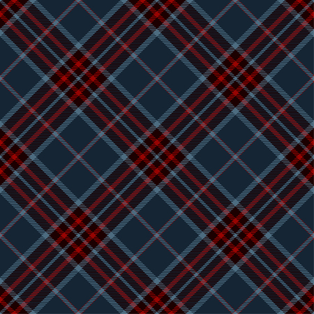 Tartan Plaid Scottish Seamless Pattern Background. Blue, Black and  Red  Color  Wrap. Flannel Shirt Patterns. Trendy Tiles Vector Illustration for Wallpapers. Vettoriali