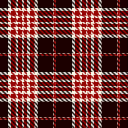 Tartan Plaid Scottish Seamless Pattern Background. Black, Red  and White Color  Wrap. Flannel Shirt Patterns. Trendy Tiles Vector Illustration for Wallpapers.