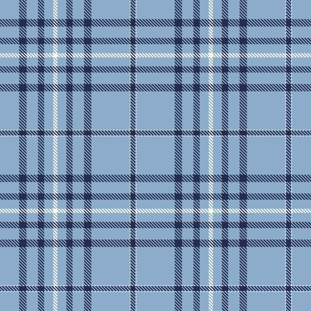 Tartan Plaid Scottish Seamless Pattern Background. Blue and White  Color  Wrap. Flannel Shirt Patterns. Trendy Tiles Vector Illustration for Wallpapers.  イラスト・ベクター素材