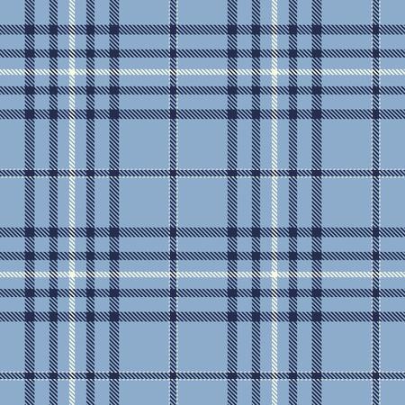 Tartan Plaid Scottish Seamless Pattern Background. Blue and White  Color  Wrap. Flannel Shirt Patterns. Trendy Tiles Vector Illustration for Wallpapers. Ilustração
