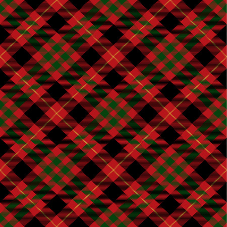 Tartan Plaid Scottish Seamless Pattern Background. Black, Red, Green and  Gray    Color  Wrap.  Flannel Shirt Patterns. Trendy Tiles Vector Illustration for Wallpapers  イラスト・ベクター素材