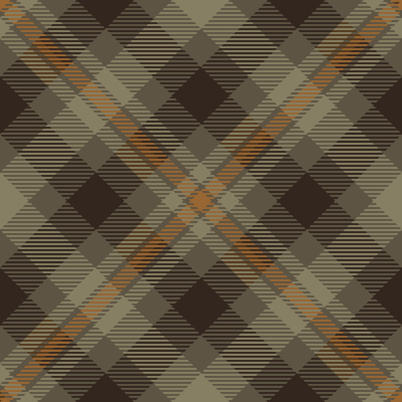 Tartan Plaid Scottish Seamless Pattern Background. Brown and Beige  Color  Wrap.  Flannel Shirt Patterns. Trendy Tiles Vector Illustration for Wallpapers  イラスト・ベクター素材