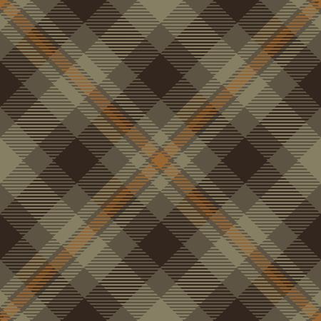 Tartan Plaid Scottish Seamless Pattern Background. Brown and Beige  Color  Wrap.  Flannel Shirt Patterns. Trendy Tiles Vector Illustration for Wallpapers Ilustração