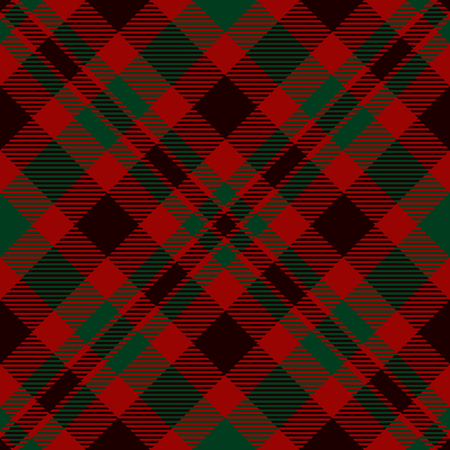 Tartan Plaid Scottish Seamless Pattern Background. Black, Red and Green  Color  Wrap.  Flannel Shirt Patterns. Trendy Tiles Vector Illustration for Wallpapers