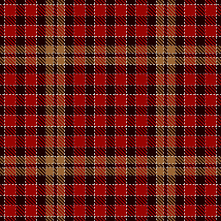 Tartan Plaid Scottish Seamless Pattern Background. Black, Red, Gold  and  Gray  Color  Wrap.  Flannel Shirt Patterns. Trendy Tiles Vector Illustration for Wallpapers  イラスト・ベクター素材