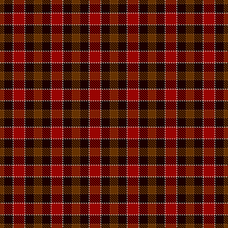 Tartan Plaid Scottish Seamless Pattern Background. Black, Red, Brown, Gold  and  White  Color  Wrap.  Flannel Shirt Patterns. Trendy Tiles Vector Illustration for Wallpapers  イラスト・ベクター素材
