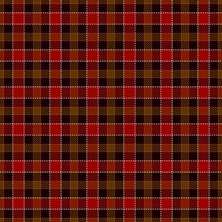 Tartan Plaid Scottish Seamless Pattern Background. Black, Red, Brown, Gold  and  White  Color  Wrap.  Flannel Shirt Patterns. Trendy Tiles Vector Illustration for Wallpapers Ilustração