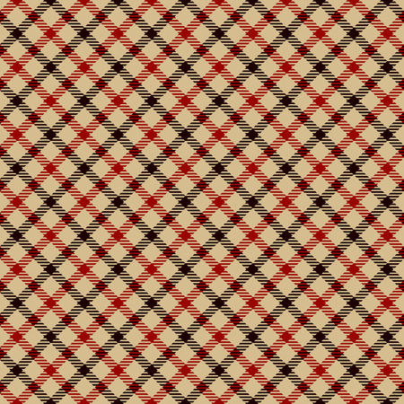 Tartan Plaid Scottish Seamless Pattern Background. Black, Red  and  Camel Beige  Color  Wrap. Flannel Shirt Patterns. Trendy Tiles Vector Illustration for Wallpapers.