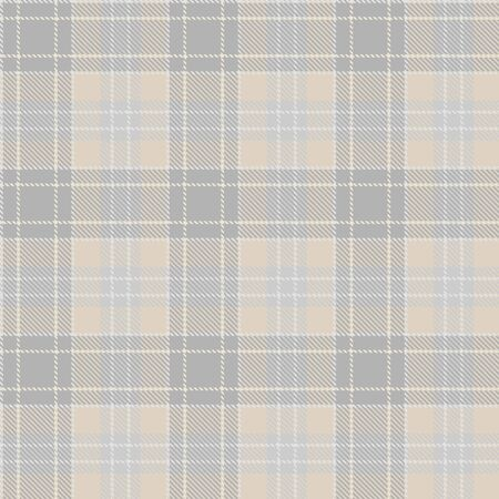 Tartan Seamless Pattern Background in Pastel  Beige, Dusty Beige And Gray  Color  Plaid.  Flannel Shirt Patterns. Trendy Tiles Vector Illustration for Wallpapers.
