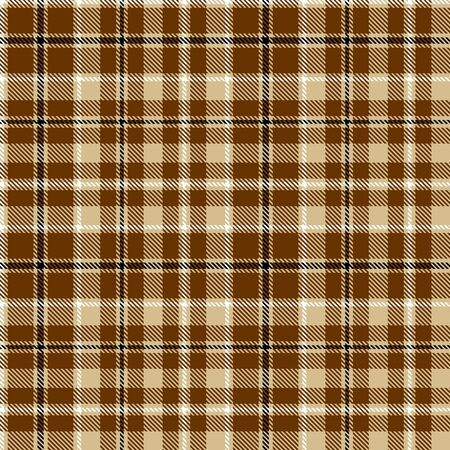 Black,  Brown  and  Camel Beige  Tartan  Plaid  Seamless Pattern Background. Flannel  Shirt Tartan Patterns. Trendy Tiles Vector Illustration for Wallpapers. Çizim
