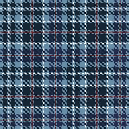 Blue,  Red  and  White  Tartan  Plaid  Seamless Pattern Background. Flannel  Shirt Tartan Patterns. Trendy Tiles Vector Illustration for Wallpapers.